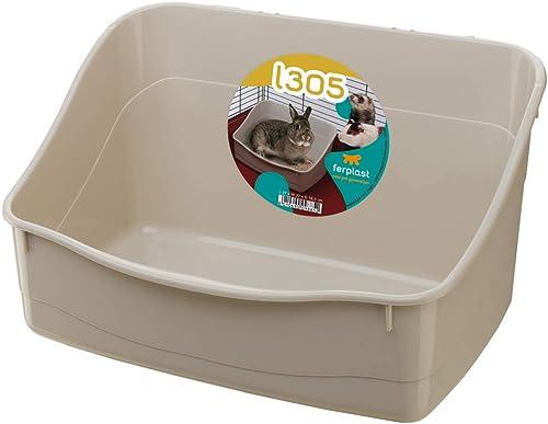 Ferplast Litière pour Lapins L305 Toilette pour Cages Rongeurs, Lapins, Petits Animaux, Facile à Nettoyage, Hygiéniqu...