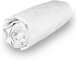 Soleil d'ocre Camille Drap Housse, Blanc, 200 x 200 cm