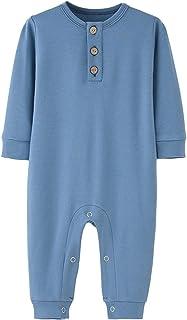 100٪٪ طفل كامل الأكمام السروال القصير طفل الفتيان فتاة النوم واللعب حللا (Color : Blue, Kid Size : 12M)