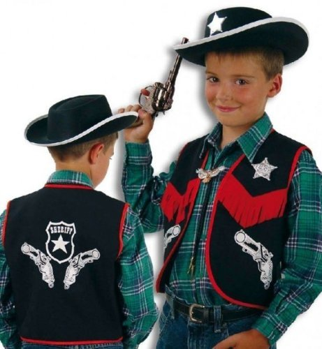 Cowboy Weste Kinder Kostüm Gr 116 by buy'n'get