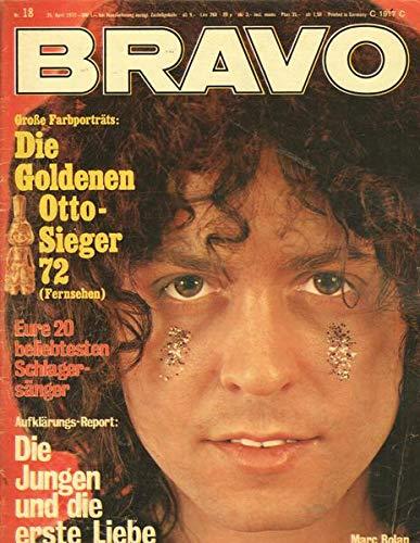 Bravo Nr. 18/1972 26.04.1972 Große Farbporträts: Die Goldenen Otto-Sieger 72