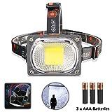 SoraOutdoors LED Headlamp Flashlight, Ultra Bright 6000 Lumens COB Light Headlight IP55