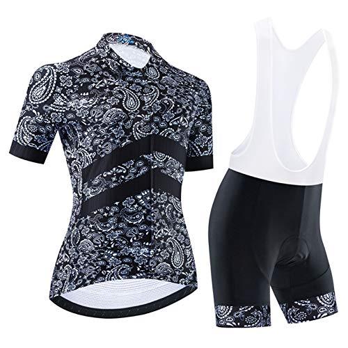 Maillot Bicicleta Giant Traje Ciclismo Vestimenta Mujer En Deportes Y Aire Libre Camiseta MTB con Bolsillos Fino Manga Corta de Secado rápido Pantalones Traje Verano,C,3XL