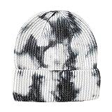 YWLINK Gorro De Punto Tie-Dye Tejido Beanie Sombreros De Invierno SeñOras CáLido OtoñO Tejido Hip-Hop Sombreros NiñOs Gorro Degradado Tie-Dye Hip Hop Skull Hat Gorra De Color (A, Talla única)