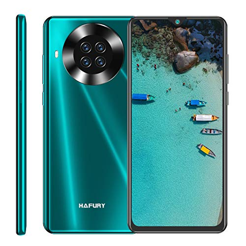 Hafury K30 64GB SIM Free Moible Phone, Smartphone Unlcoked With 6.5 Inch Dewdrop, Android 10, 3GB RAM, Four Rear Camera, 4200mAh Battery, 4G Dual SIM, NFC, GPS, WiFi, UK Version (Green)