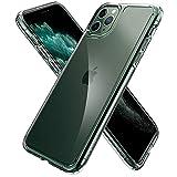 【Spigen】 ガラス ケース iPhone11Pro ケース 5.8インチ 対応 全面 クリア 9H 背面強化ガラス + TPUバンパー 三層構造 にじみ防止 米軍MIL規格 耐衝撃 カメラ保護 液晶保護 高透明カバー 衝撃吸収 四隅滑り止め Qi充電 ワイヤレス充電 クォーツ・ハイブリッド 077CS27237 (クリスタル・クリア)