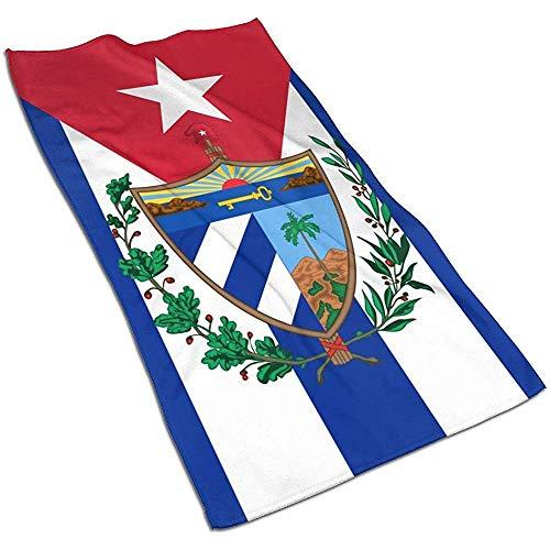 Toallas de baño con bandera cubana - Toallas de hotel ultra suaves de calidad 27.5 X 17.5 pulgadas