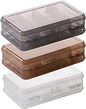 Dwuwarstwowe plastikowe pudełko do przechowywania biżuterii 10 przedziałów wiszący pojemnik na kolczyki z koralikami pudeł...