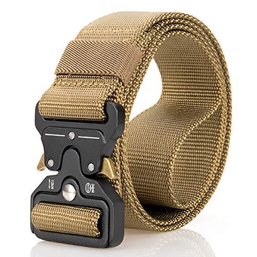 Cinturón táctico unisex estilo militar, cinturón de nailon resistente con hebilla de liberación rápida, 8