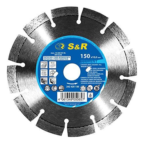 Disco Corte Diamantado 150 x 2,2 mm para fresar Ventanas y Puertas para BEPO, Corte en seco de Madera, Aluminio, Mamposteria
