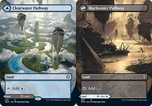 Magic: The Gathering - Allée Clearwater // Murkwater Pathway - Borderless - Zendikar Rising