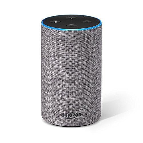 Echo (2nd Generation) - Smart speaker with Alexa - Heather Grey Fabric