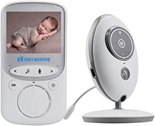 Baby Monitor with Two Cameras HD 2.4-inch Color LCD Display Two-Way Intercom with Temperature Monitoring and Music Functio...