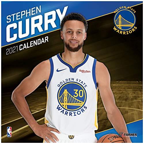 TURNER Sports Golden State Warriors Stephen Curry 2021 12X12 Player Wall Calendar (21998012143)