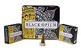 ABN Fashion Deepika - Conos de incienso con aroma de opio (12 unidades), color negro