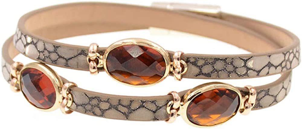 Women Bracelets Trendy Leather Bracelet At the price Safety and trust Crystal Bra Charm Inlaid