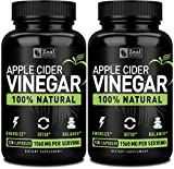 Zeal Naturals 100% Natural Raw Apple Cider Vinegar Capsules (1560mg|120 Capsules) Apple Cider Vinegar Pills w Cayenne Pepper, Fast Weight Loss Cleanse Appetite Suppressant & Bloating Relief (2-pack)