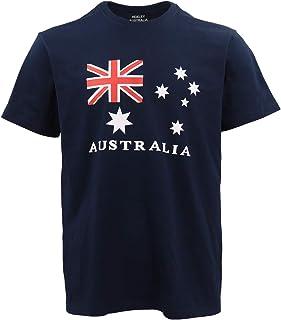 Unisex Kids Adults Mens Australian Day Aussie Flag Navy Souvenir Tee Top T Shirt