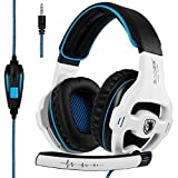 Sades Stereo Gaming Headset for PS4 PC Xbox One Controller Noise Cancelling Over