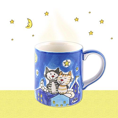Mila Keramik-Becher, NachtKatzen | MI-80425 | 4045303804258