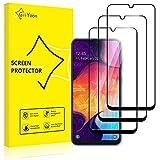 GiiYoon-3 Piezas Protector de Pantalla para Samsung Galaxy A50 Cristal Templado,[Sin Burbujas] [Cobertura Completa] [9H Dureza] Vidrio Templado HD Protector Pantalla para Samsung Galaxy A50