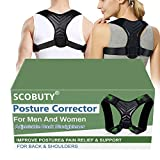 Corregir Postura Espalda,Corector Postural,Posture Corrector for Women Men,Corrector de postura ajustable de respaldo, mejora el alivio de la postura Dolor de espalda