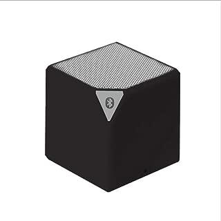 Redfiy Mini X3 Bluetooth Speaker Rubik's Cube Block Water Cube Gift Card Bluetooth Speaker Hands-Free Call MP3 Card Wireless Speaker FM Subwoofer (Color : Black)