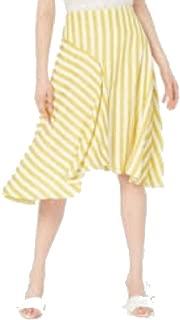 Lucy Paris Maya Striped Uneven Hem Skirt