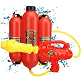 TOY Life Water Guns for Kids- Backpack Water Gun- Fireman Costume for Kids Halloween Costume, Firefighter Pretend Play Kids Firefighter Water Gun with Backpack Tank, Gifts for Boys Girls Toddlers