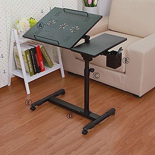 Home Beistelltische Klapptisch Haushalt Rotierender Nachttisch Laptop-Bett Schreibtisch Verstellbarer Hubtisch, BOSS LV, Metall-Doppelventilator