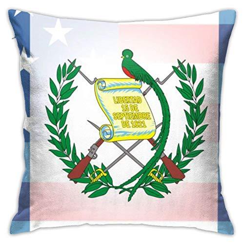Cup Off Throw Pillow Cover Guatemala Flag Funda de Almohada Funda de cojín Decoración Decorativa para el hogar para sofá Dormitorio Sala de Estar, 45 × 45 Cm
