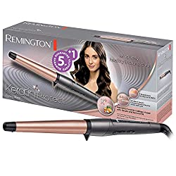 Remington Curling Iron Keratin Protect CI83V6, tapered, high-quality grip-tech ceramic coating, gray / rose gold