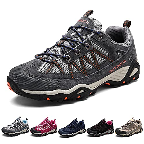Zapatillas de Senderismo Hombre Mujer Ligeras Transpirable Zapatillas de Trekking Antideslizantes Zapatos de Montaña