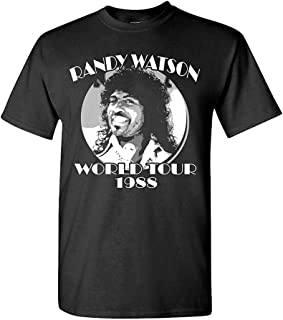 Randy Watson World Tour - Retro Movie Funny - Mens Cotton T-Shirt Funny Design