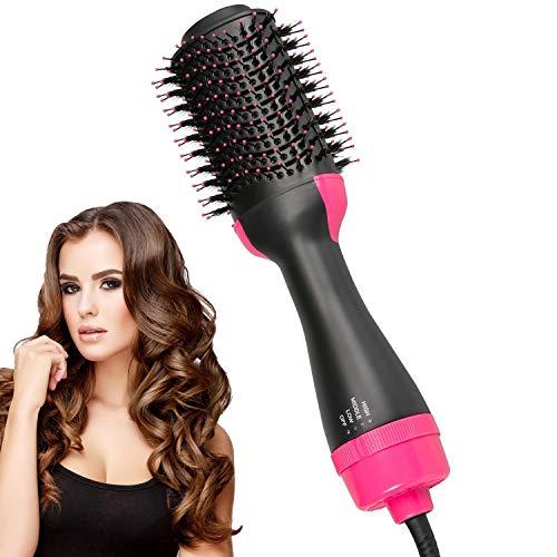 Hair Dryer Brush Hot Air Brush Hair Volumizer Curler Straightener Styler Salon Negative Ion Ceramic Electric Blow Comb