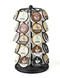 Nifty Coffee Pod Carousel – Compatible with K-Cups, 35 Pod Pack Storage, Spins 360-Degrees, Lazy Susan Platform, Modern Black Design, Home or Office Kitchen Counter Organizer