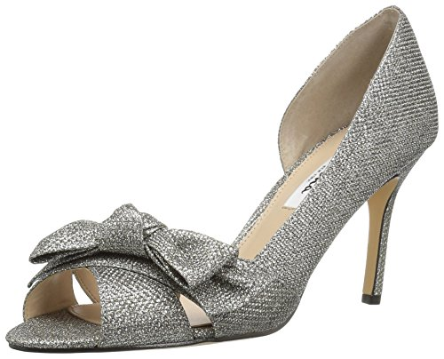 NINA Women's Forbes2 Dress Pump, Yf-Steel, 8 M US
