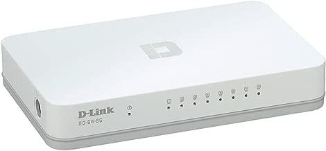 D-Link GO-SW-8G 8-Port Unmanaged Gigabit Switch 8 Ports - 8 x RJ-45 - 10/100/1000Base-T - Desktop