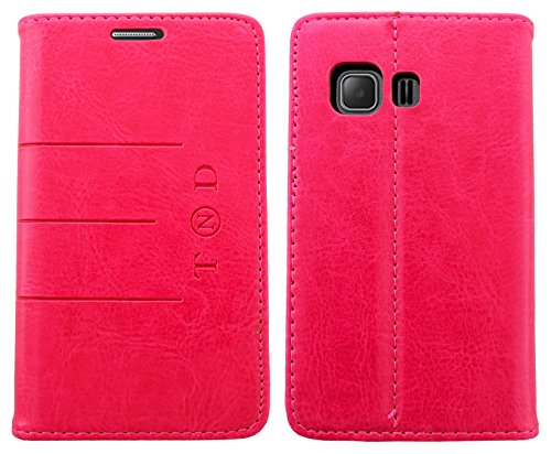 mobileExplosion - Funda de piel tipo libro con tapa magnética para Samsung Galaxy Young 2 SM-G130, color rosa