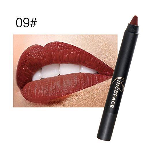 iHENGH Charme Rouge à Lèvres, Mesdames Beauté Maquillage Waterproof Pen Sexy Hydratant Longue Tenue Lip Gloss Pen