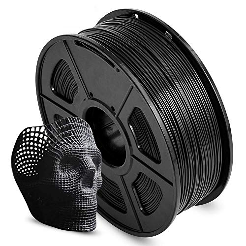 AnKun PLA 3D Printer Filament 1.75mm, 1 kg Black Pla with High Dimensional Accuracy +/- 0.02 mm, Tangle-Free 3D Printing Filament for 3D Printer and 3D Pen