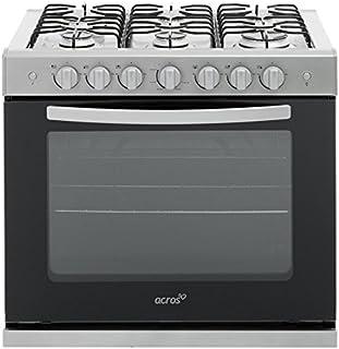 Estufa Emportable de Cocina Acros De Gas AE3400D de 80 cms cms en Titannio/Negro