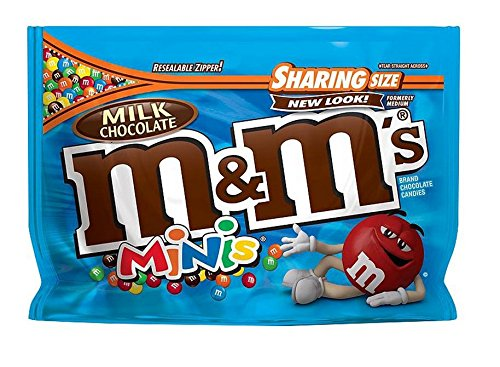 M&M New Flavor Chocolate Candy Sharing Size Pack (Milk Mini Chocolate)