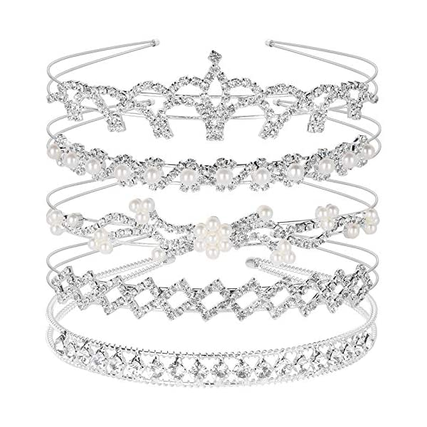 Crystal Headband Set of 5, Teenitor Jewelry Rhinestone Women Girl Hair Style Accessories...