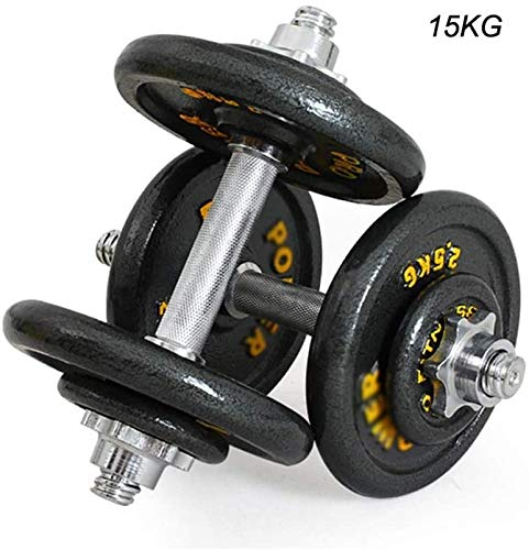 Hantel Einstellbare Gewichte Hantel Painted Dumbbells Tragbare Lange Griff Hanteln for Fitnessgeräte Krafttraining Dumbbells (Size : 15kg)