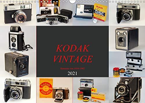 KODAK VINTAGE Kameras von 1934-1982 (Wandkalender 2021 DIN A3 quer)