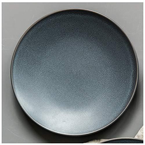 YYF Plat de maison créatif européen steak occidental vaisselle en céramique petit déjeuner disque pâtes (Taille : 22.5cm)