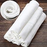 6 Paquets 50 x 50 cm Tissu Mousseline Carré Doux en Coton, Convient pour Filtrer les Fruits, le Beurre, le Vin, Filtre à Lait à la Maison