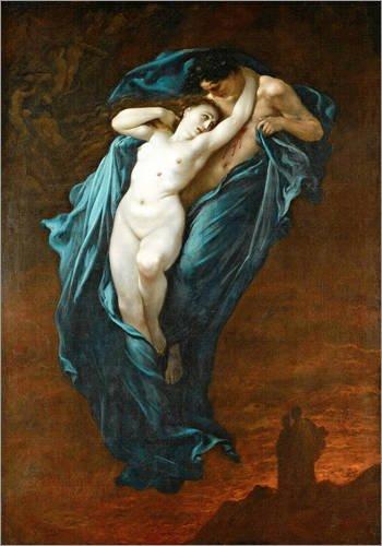 Posterlounge Lienzo 30 x 40 cm: Paolo and Francesca da Rimini de Gustave Doré - Cuadro Terminado, Cuadro sobre Bastidor, lámina terminada sobre Lienzo auténtico, impresión en Lienzo