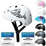 SkullCap® BMX & Casco per Skater Casco - Bicicletta & Monopattino Elettrico, Design: Robodog, Taglia: 55-58 cm